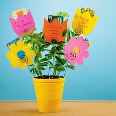 Teacher Gifts - gift card flower pot
