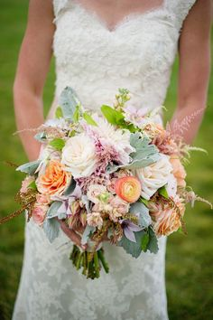 Mixed Pastel Bouquet | Photography: Jamee Photography | See More: http://stylemepretty.com/colorado-weddings/tabernash/2013/12/02//