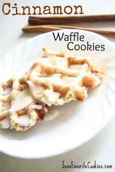 Cinnamon Waffle Iron Cookies via @Jen's Favorite Cookies