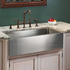 Optimum Stainless Steel Farmhouse Sink - Kitchen Sinks - Kitchen