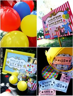 Circus Carnival entrance, tickets, games so cute