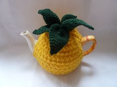 Pineapple handknitted tea cosy cozy to fit a large by madmumknits, £13.50