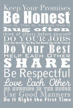house rules ideas