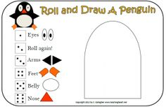 Roll and Draw a Penguin