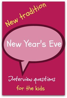 New Year interview questions for kids