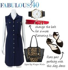 How to style a blue shirtdress