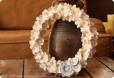 Paper flower wreath 2