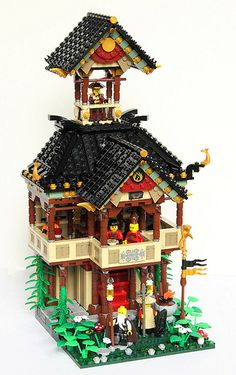 Lego Teahouse  by qi-tah on Flickr