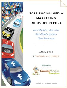 2012 Social Media Marketing Industry Report. Are you wondering how your peers are using social media? Wondering if you should focus on Google+ or Pinterest? In our fourth annual social media study, more than 3800 marketers reveal where they focus their social media activities, how much time they invest and what the rewards are. Check out the report:  http://www.scribd.com/embeds/86810995/content?start_page=1_mode=list_key=key-51p5l3rpluxexhpjc58_password=l6bwvawfbvvsfk137kf