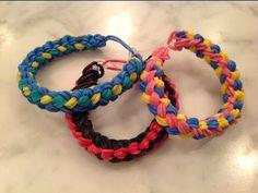 ▶ How to make a Double Braid Rainbow Loom Bracelet design - YouTube