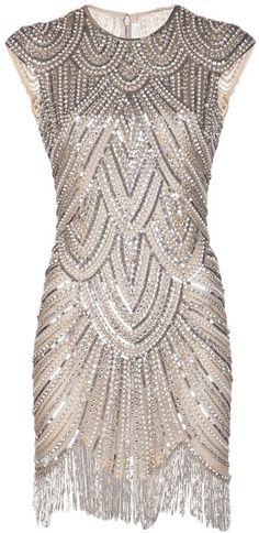 Naeem Khan >> Embellished Fringe Dress