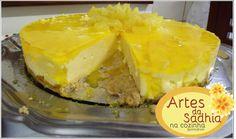Artes da Sadhia na cozinha : Torta Gelada de abacaxi Saborama