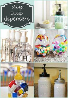 DIY Soap Dispensers - So many cute ideas, both fancy and fun! { lilluna.com }