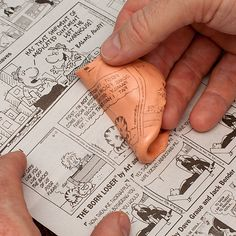 Silly putty + newspaper