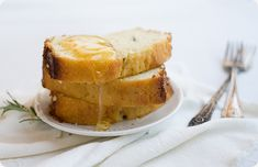 rosemary buttermilk pound cake with honey