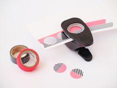 washi tape neon sticker dots