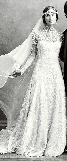 Wedding dress made by Ralph Lauren. Wow. A girl can dream, right? ;)