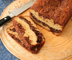 Nutella Swirl Tea Loaf (Low Carb and Gluten-Free) @Carolyn Rafaelian Rafaelian Rafaelian Ketchum