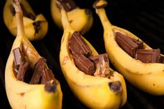 Stuff bananas with chocolate, PB and marshmallows and roast over your campfire.