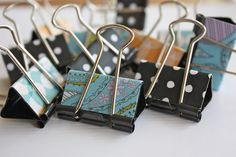 Cute binder clips!