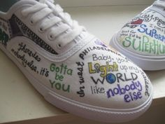 These are soo cute!! It has One Direction song lyrics written on them!
