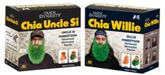 Chia Uncle Si and Chia Willie - watch their beards grow! #duckdynasty