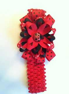 Red and black lady bug headband by InspiredbyDenna on Etsy, $9.00
