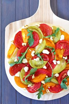 oven, pizza recipes, tomato recipes, chees pizza, heirloom tomatoes, goat cheese