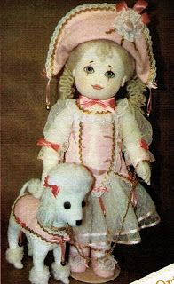 Mimin Dolls: girl with poodle