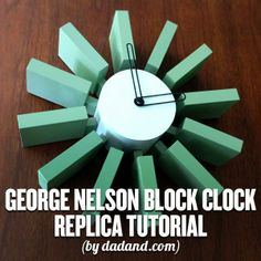 Build your own modern block clock with this great tutorial.