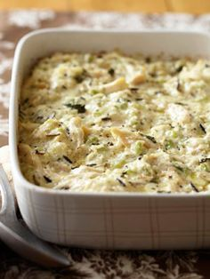 Substitute turkey for chicken and make Turkey and Wild Rice Casserole with leftover turkey!