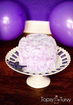 rosette smash cake by imtopsyturvy.com #topsyturvycakes