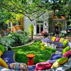 A Beautiful Backyard Full of Color in every way! Fun!!!