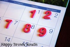 Number Matching using old calenders