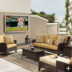 Outdoor tv on the deck this summer