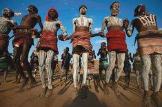 African traditional ceremonial dancing.