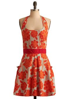 kitchens, hibiscus, modcloth, holiday baking, finger foods, dresses, aprons, cooking, vintage style