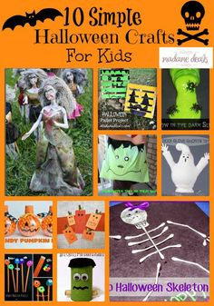 Create some fun crafts with your kids to celebrate Halloween. Here are 10 Simple Halloween Crafts for Kids.