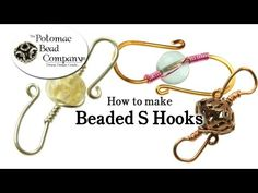 This tutorial from The Potomac Bead Company demonstrates how to make beaded S hooks for use as a clasp in any type of jewelry-making, including necklaces and bracelets.  This allows you to make unique and fun clasps easily and quickly.  http://www.potomacbeads.com  http://www.thebeadco.com