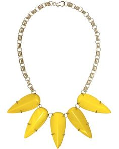 We love the bold, bright statement necklaces from Texan Kendra Scott | Jassy Necklace in Yellow
