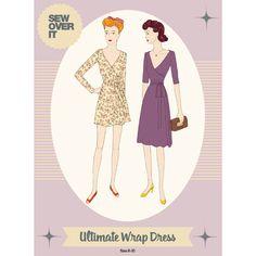 wrap dresses, dress patterns