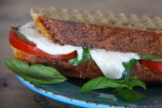 A Bountiful Kitchen: Caprese Panini Best. Summer. Lunch.  Ever.