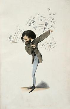 A caricature of Verdi.