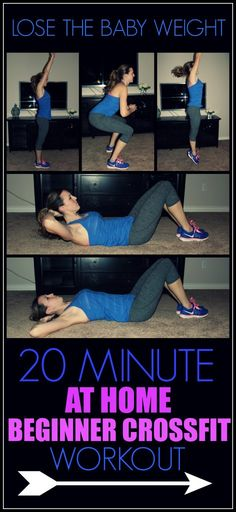 Lose the Baby Weight AT HOME! A 20 minute Beginner Crossfit Workout ANY mom can do.