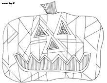 Doodle Art Pumpkin Coloring Pages
