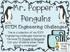 STEM Engineering Challenge Novel Pack ~ Mr. Popper's Penguins  $  Insulated Ice Box Challenge Ice Cube Slide Challenge Cardboard Tube Toboggan Challenge Penguin Playground Challenge Plank and Ladders Challenge Design a Penguin Challenge