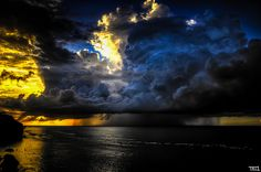 Storm + Sunset by Teo Morabito