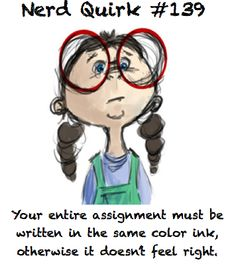 Yep....either that or every word has to be in a different color ink and that's not practical AT ALL.
