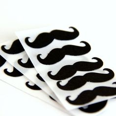 Mustache Stickers very cool envelope seals 15 by 42things on Etsy, $4.25