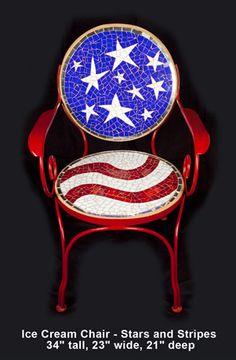 Merilee Eaton Mosaic chair - absolutely gorgeous mosaic chair!
